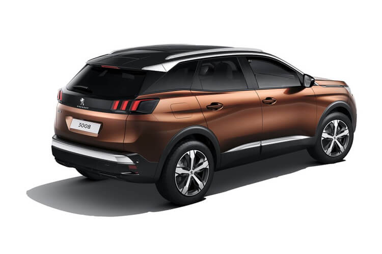 Peugeot 3008 SUV HYBRID4 1.6 PHEV 13.2kWh 300PS GT Premium 5Dr e-EAT [Start Stop] back view