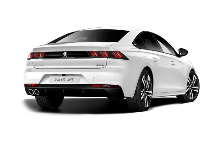 Peugeot 508 Fastback HYBRID 1.6 PHEV 11.8kWh 225PS GT 5Dr EAT8 [Start Stop] back view