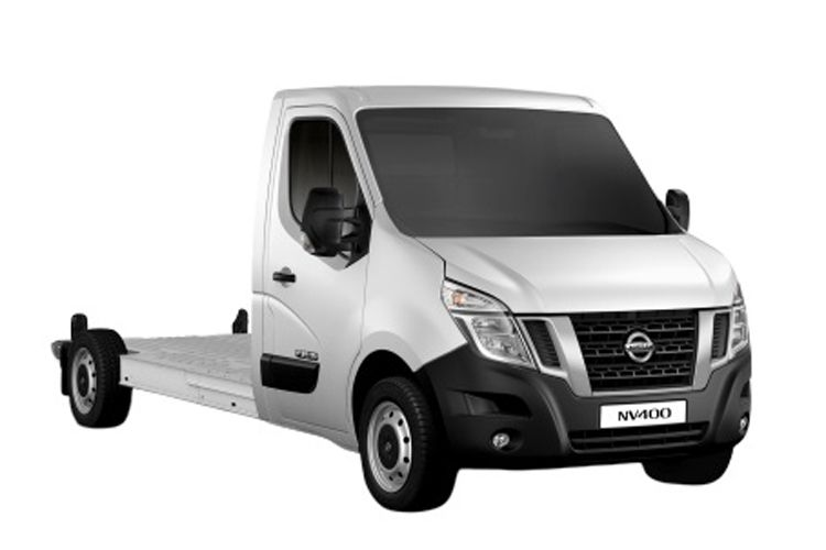 Nissan NV400 L3 35 FWD 2.3 dCi FWD 135PS Tekna Chassis Double Cab Manual front view